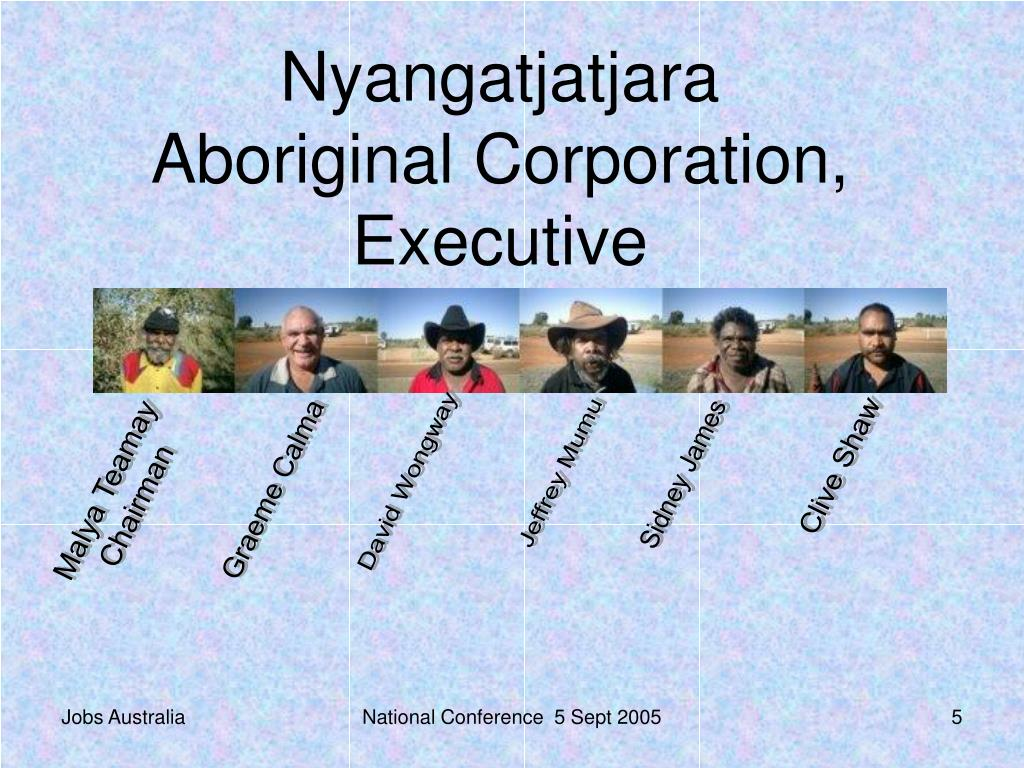 Nyangatjatjara Aboriginal Corporation, Executive