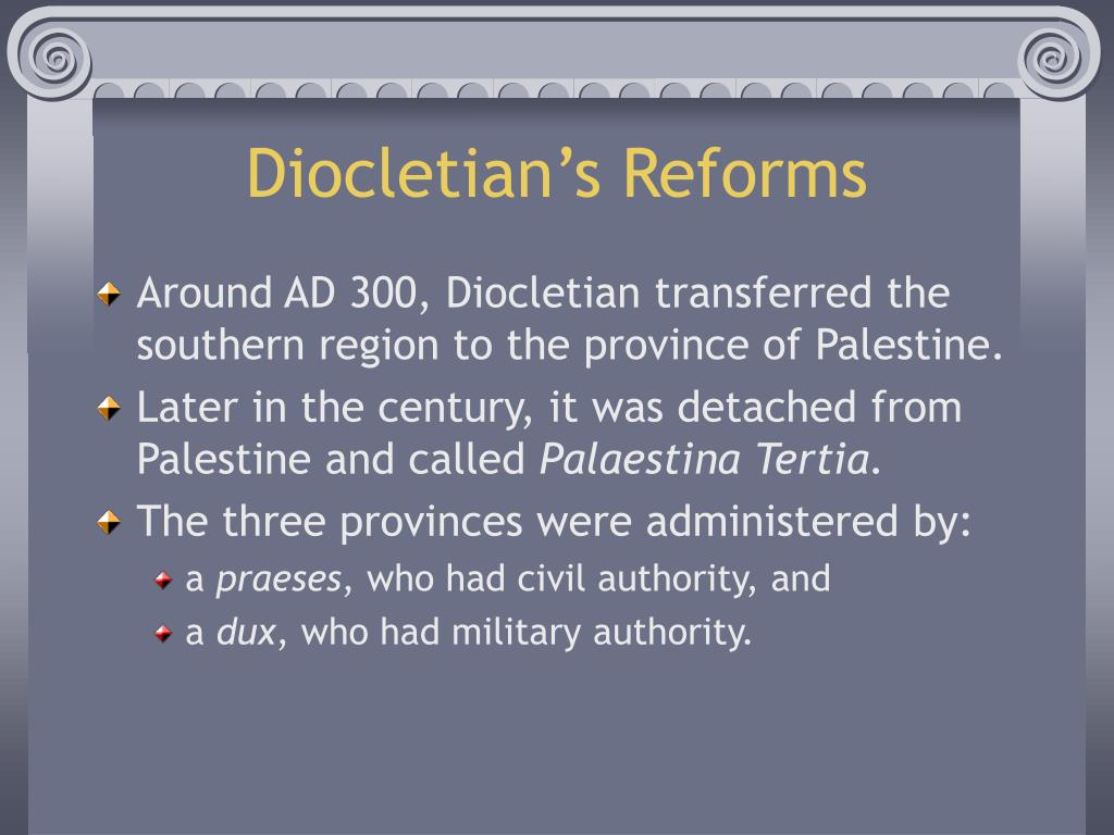 Diocletian's Reforms