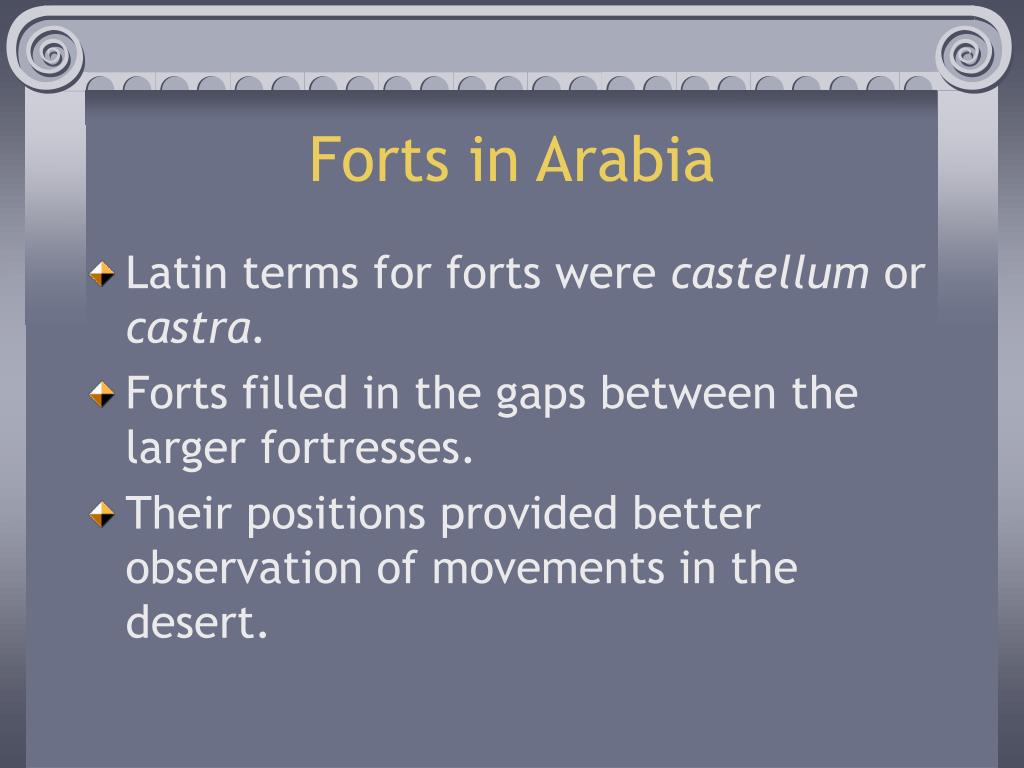 Forts in Arabia