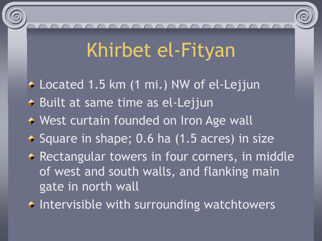 Khirbet el-Fityan