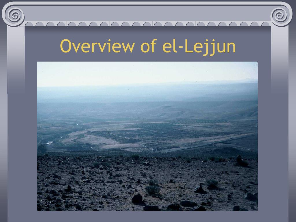 Overview of el-Lejjun