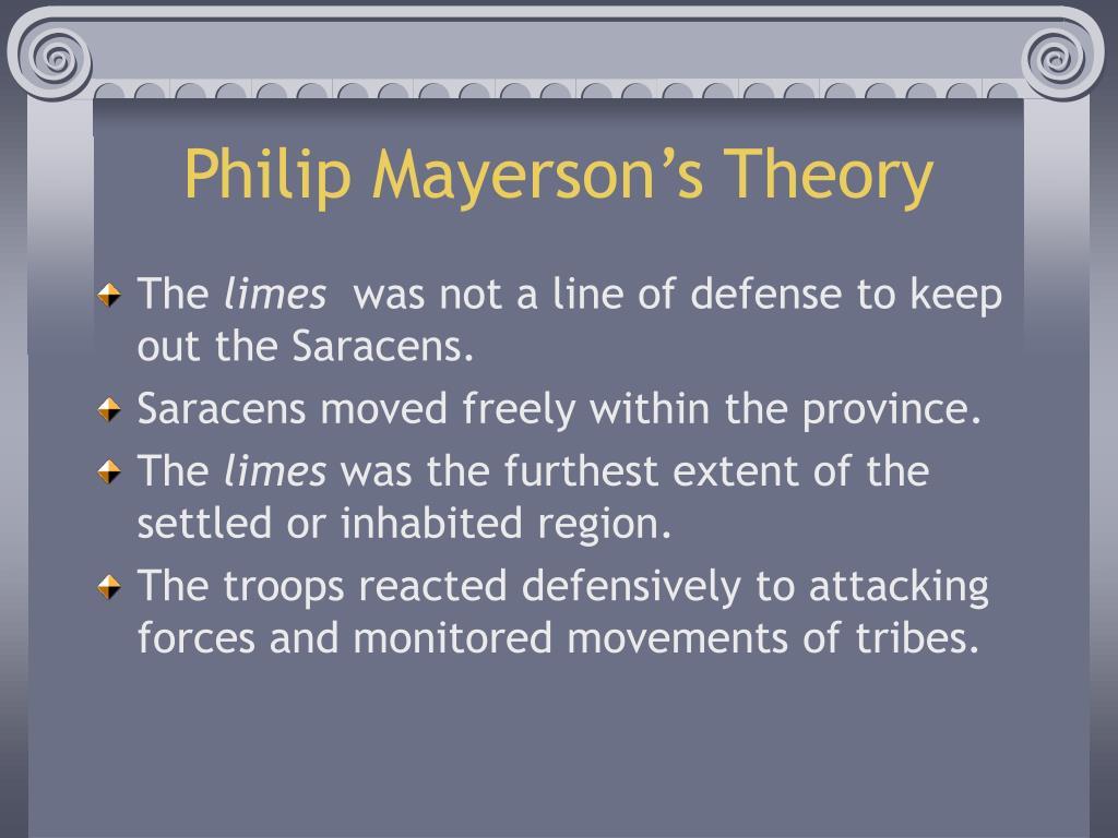 Philip Mayerson's Theory