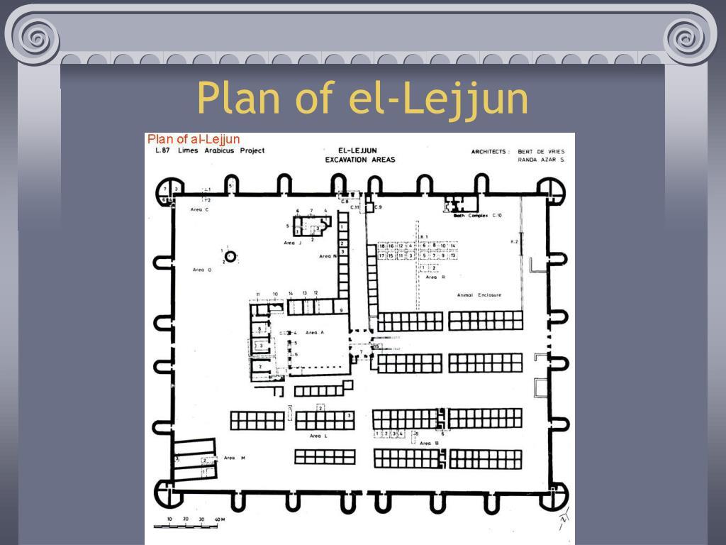 Plan of el-Lejjun