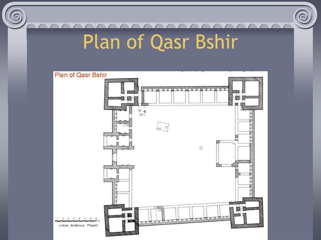 Plan of Qasr Bshir
