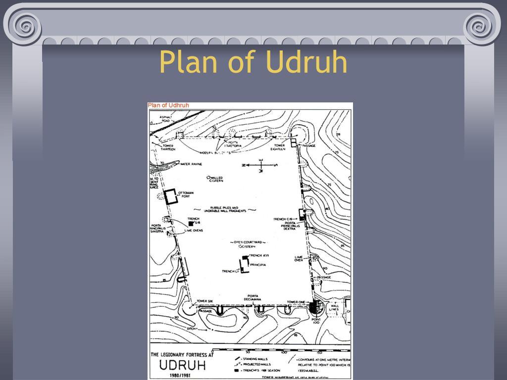 Plan of Udruh