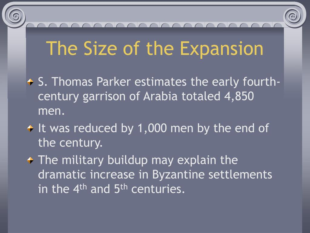 The Size of the Expansion