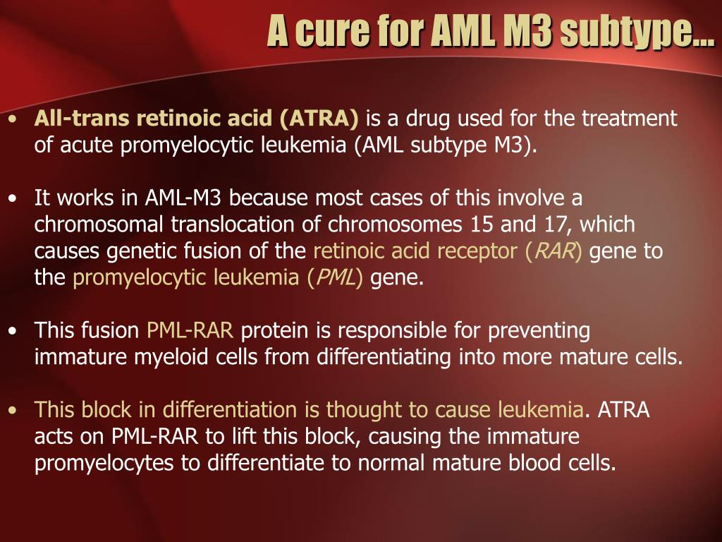 A cure for AML M3 subtype…