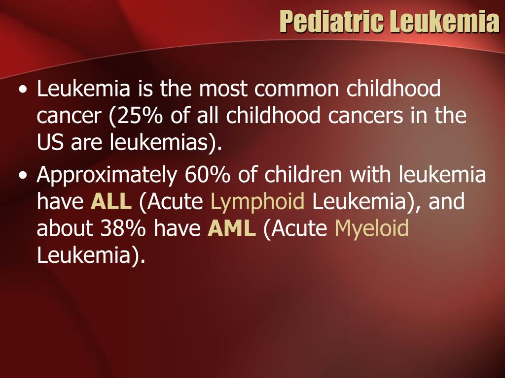 Pediatric Leukemia
