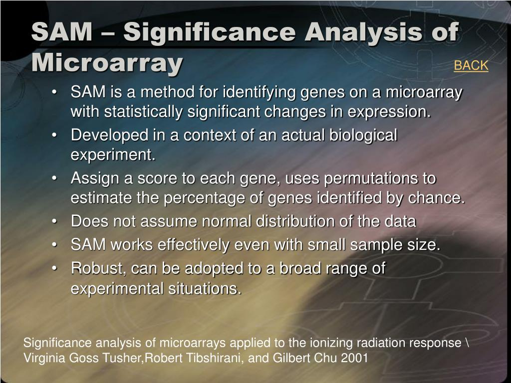 SAM – Significance Analysis of Microarray