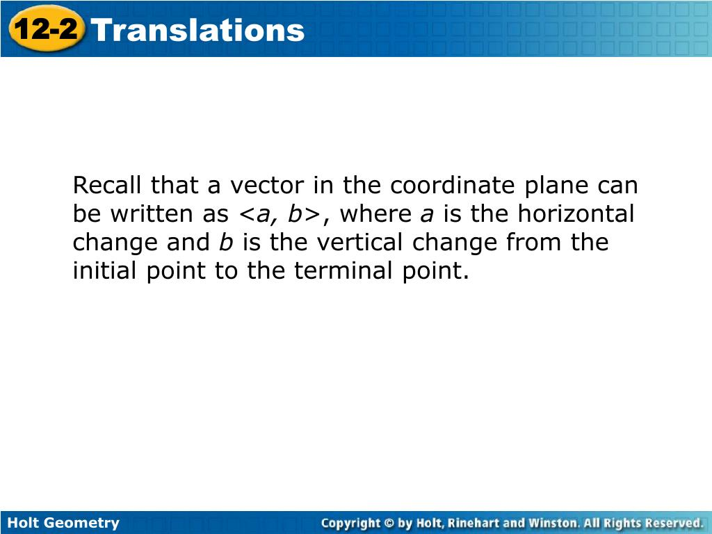 Recall that a vector in the coordinate plane can be written as <