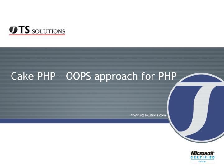 Cake php oops approach for php l.jpg