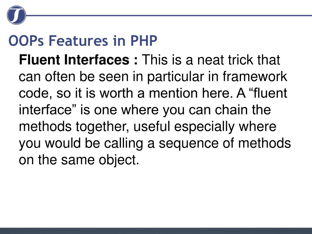 OOPs Features in PHP