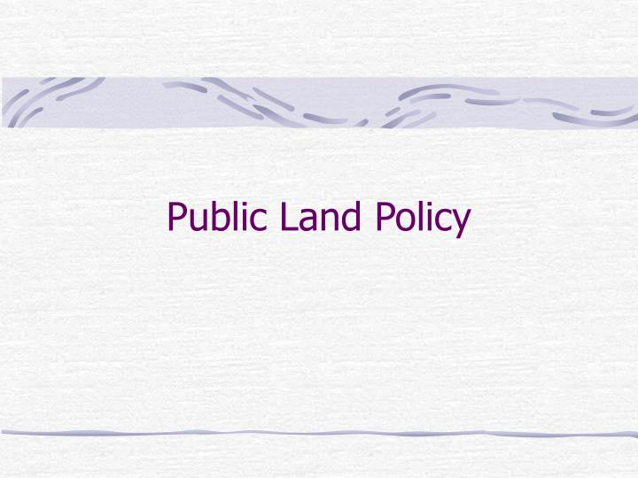 Public land policy
