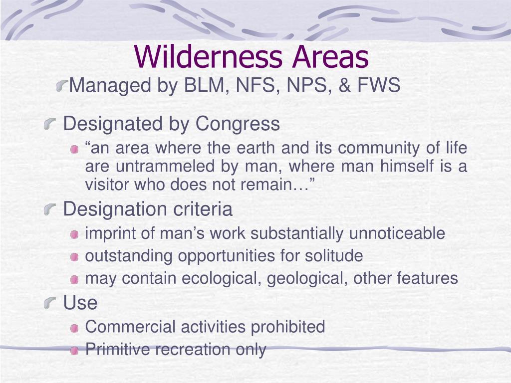 Wilderness Areas