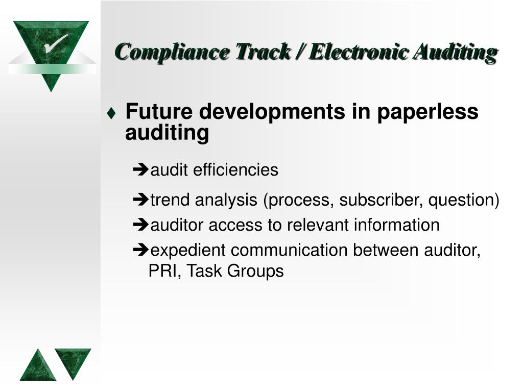 Compliance Track / Electronic Auditing