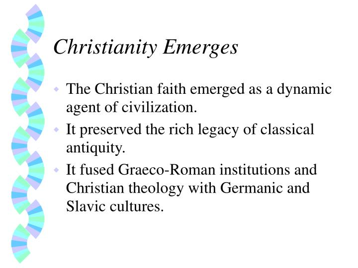 Christianity emerges