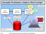 automatic performance analysis tool concept