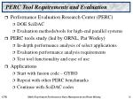perc tool requirements and evaluation