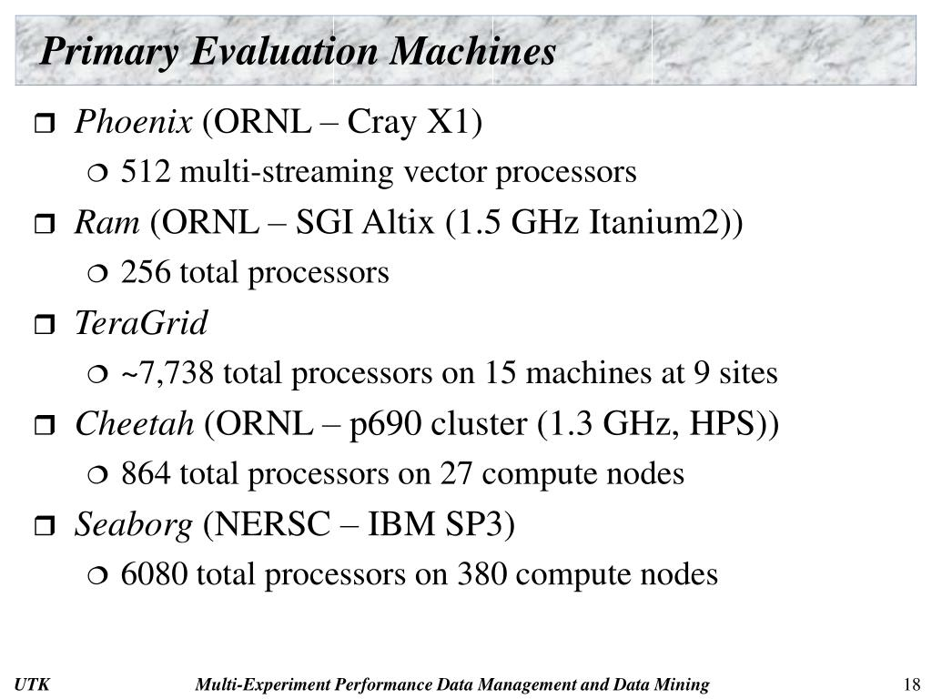 Primary Evaluation Machines