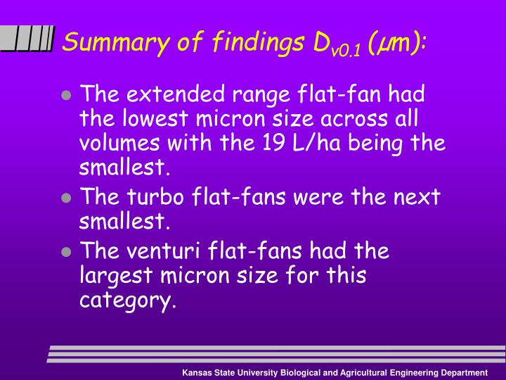 Summary of findings D