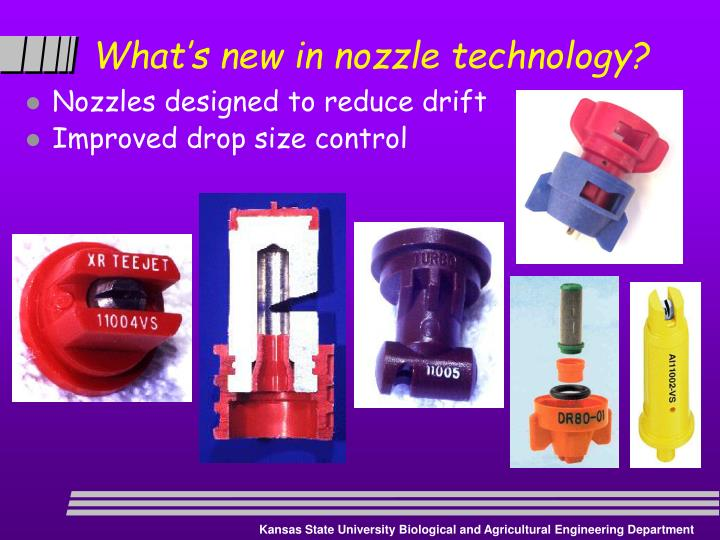 What's new in nozzle technology?