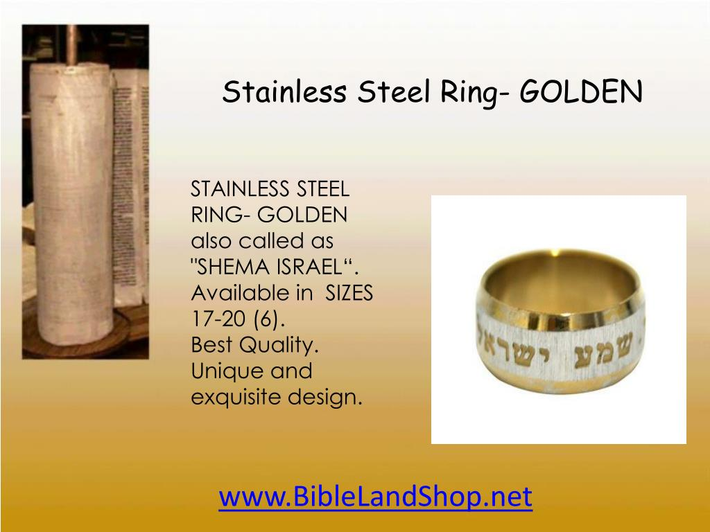 Stainless Steel Ring- GOLDEN