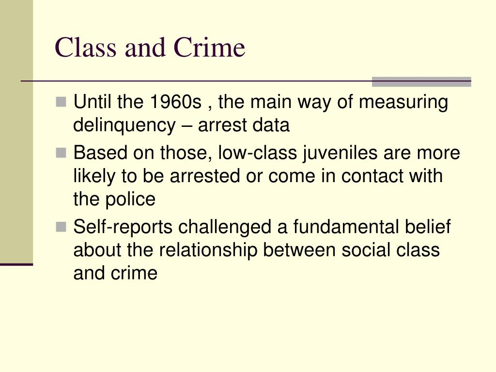Class and Crime