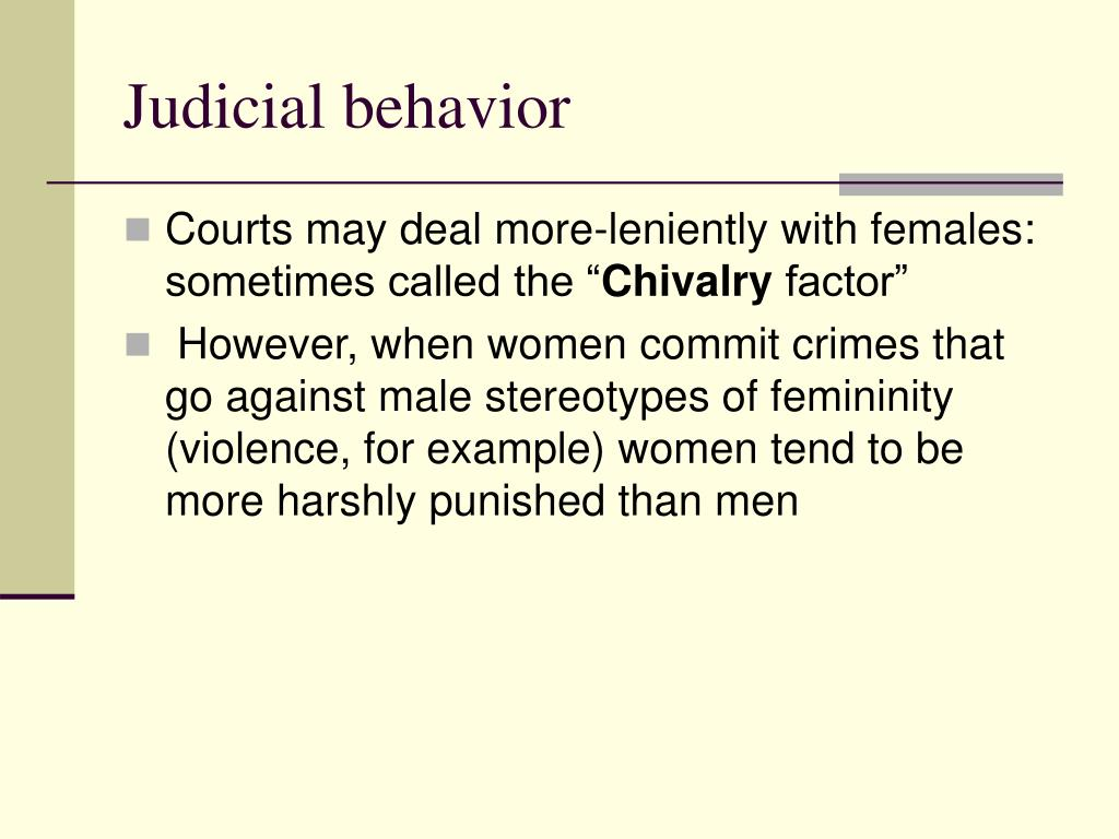 Judicial behavior