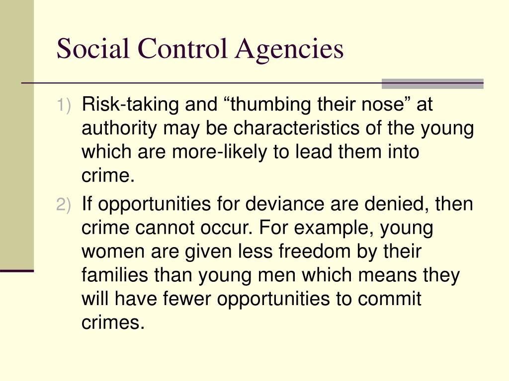 Social Control Agencies