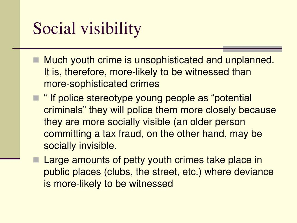 Social visibility