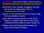 conclusion how did drought and dust storms compound depression era problems for farmers