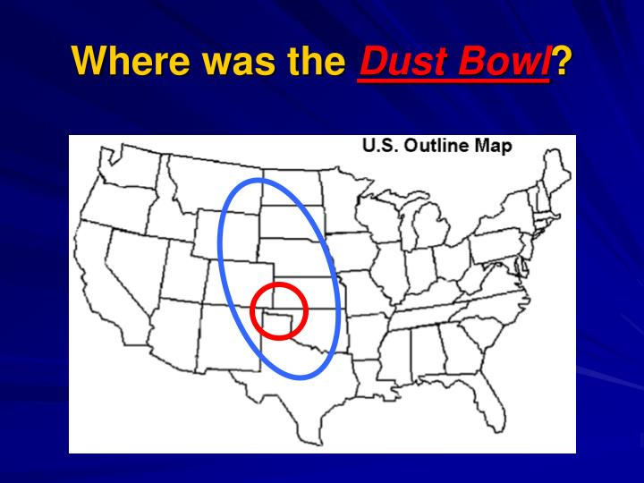 Where was the dust bowl