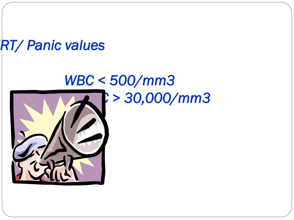 ALERT/ Panic values