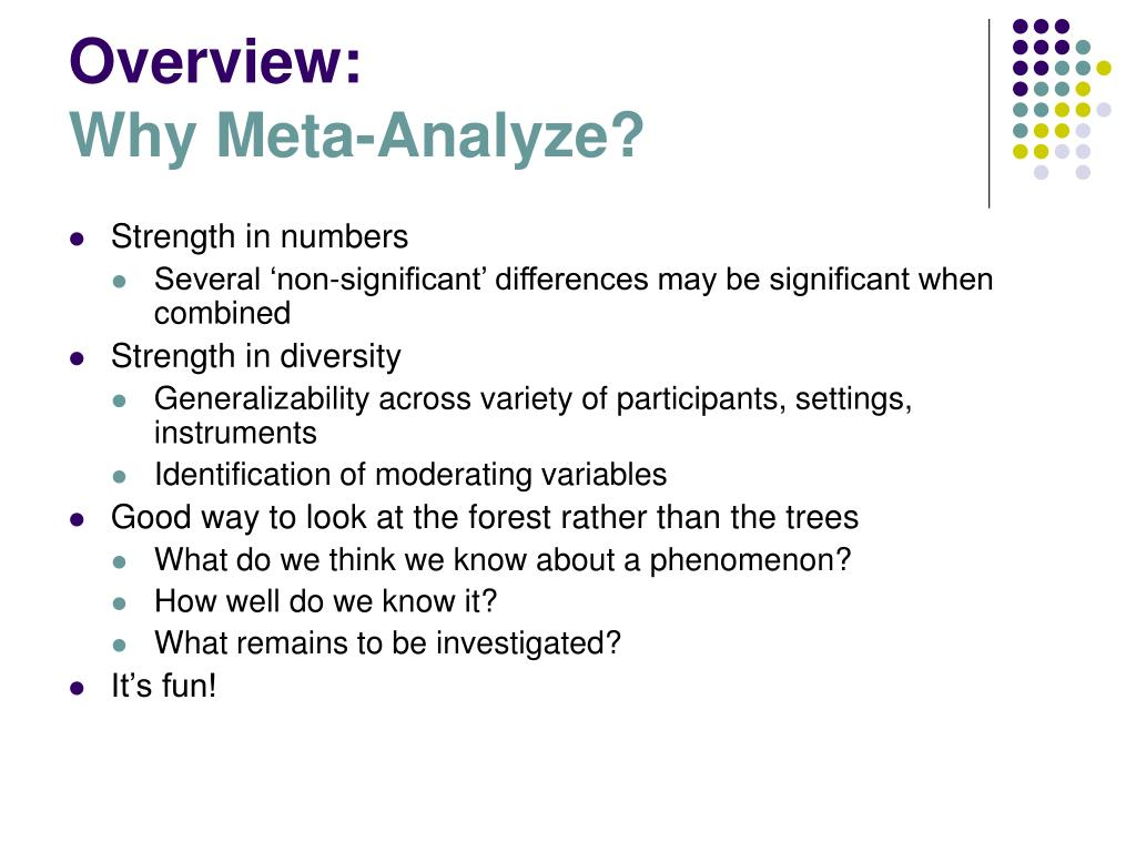 a critique for meta analysis and the productivity diversity relationship