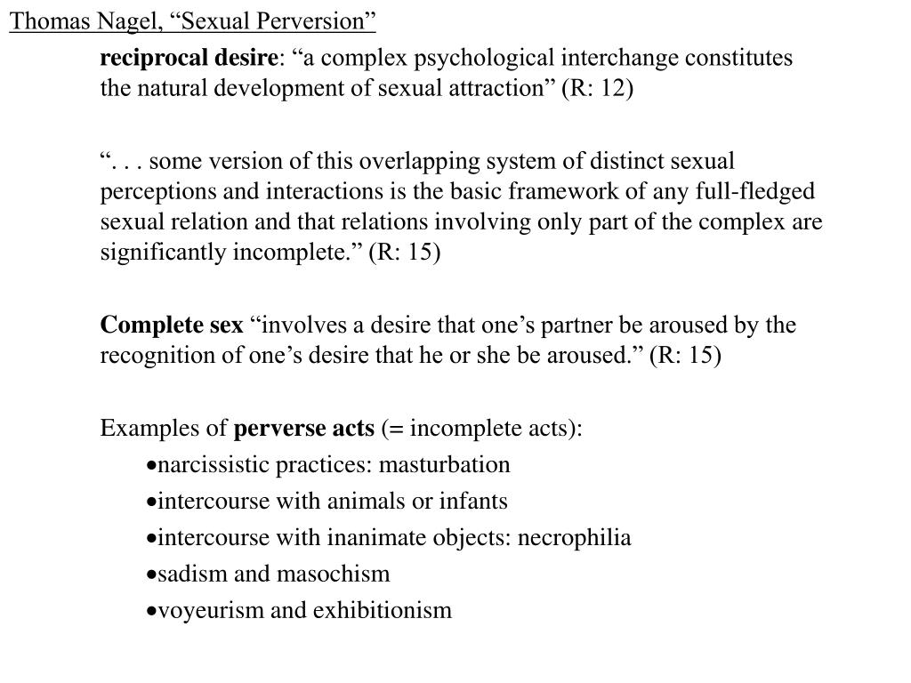 "Thomas Nagel, ""Sexual Perversion"""