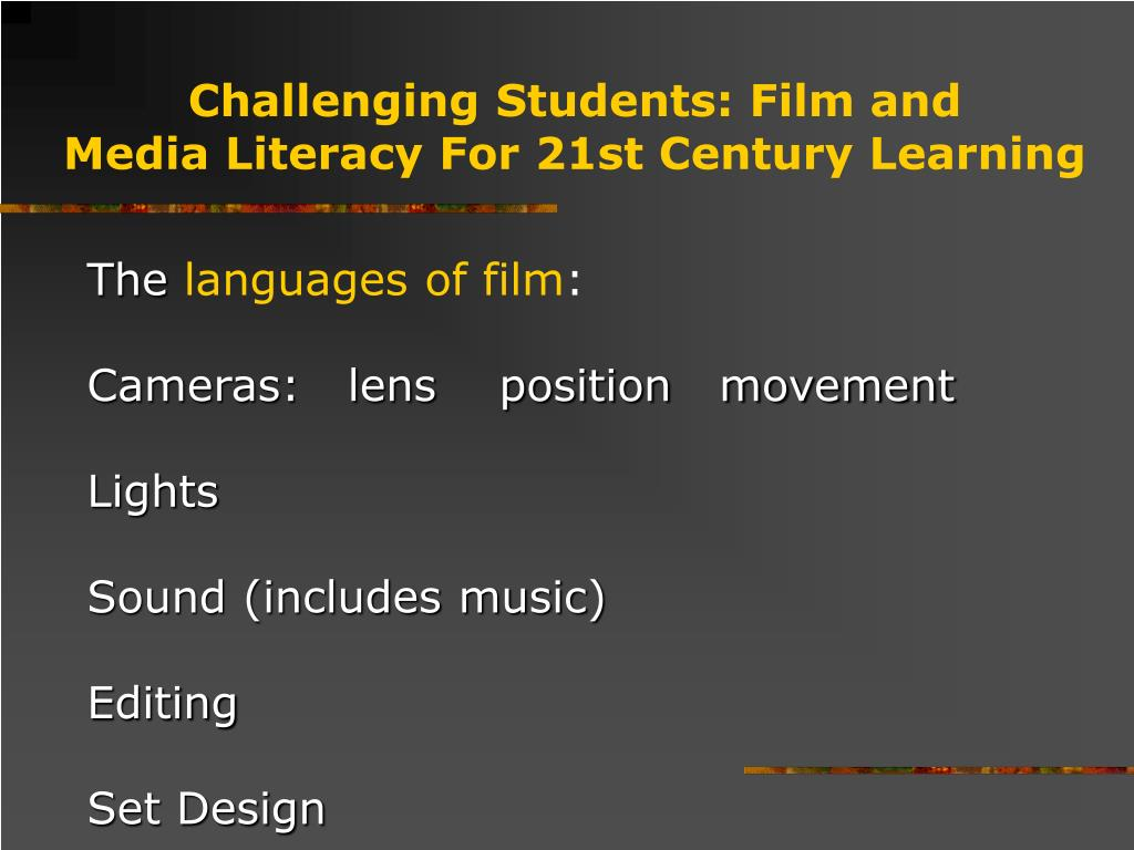 Challenging Students: Film and