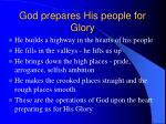 god prepares his people for glory