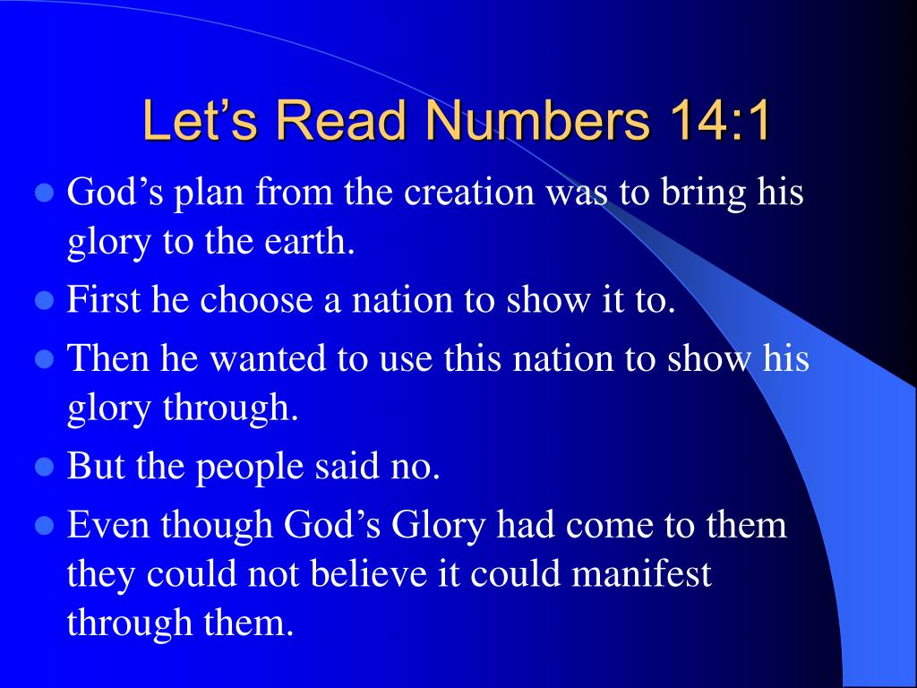 Let's Read Numbers 14:1