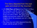the glory departed from the east gate and stood on the mountain