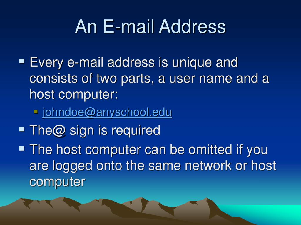 An E-mail Address