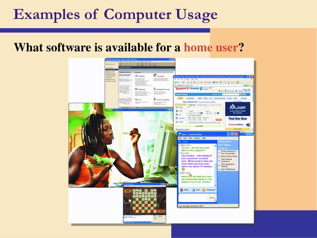 Examples of Computer Usage