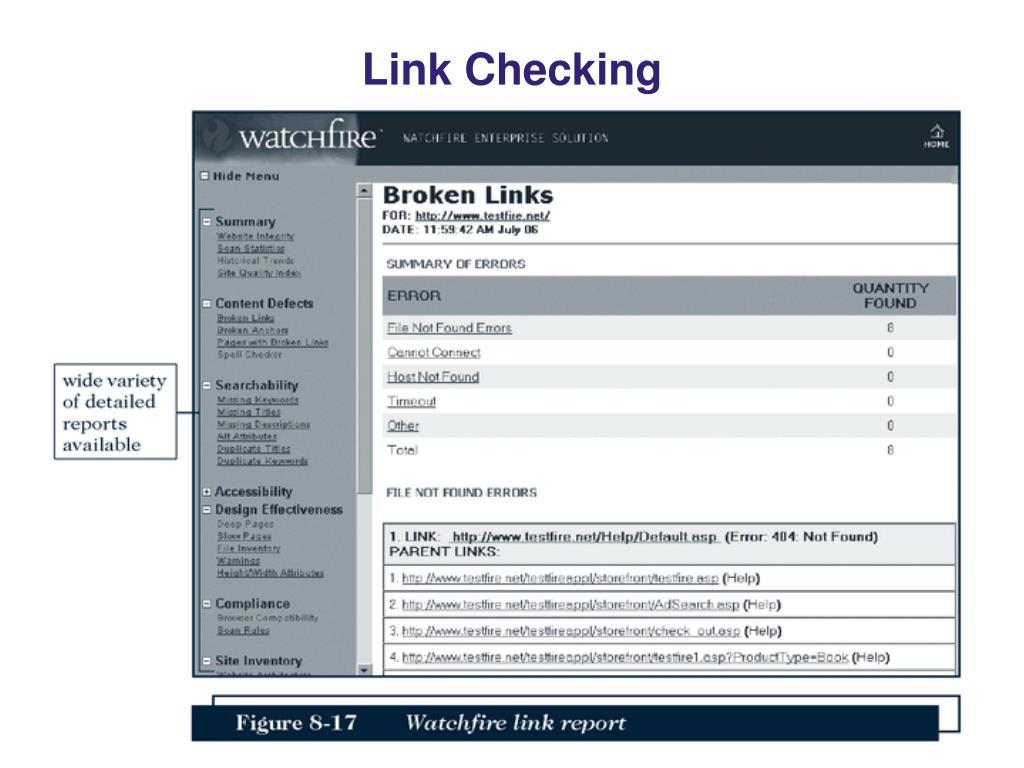 Link Checking
