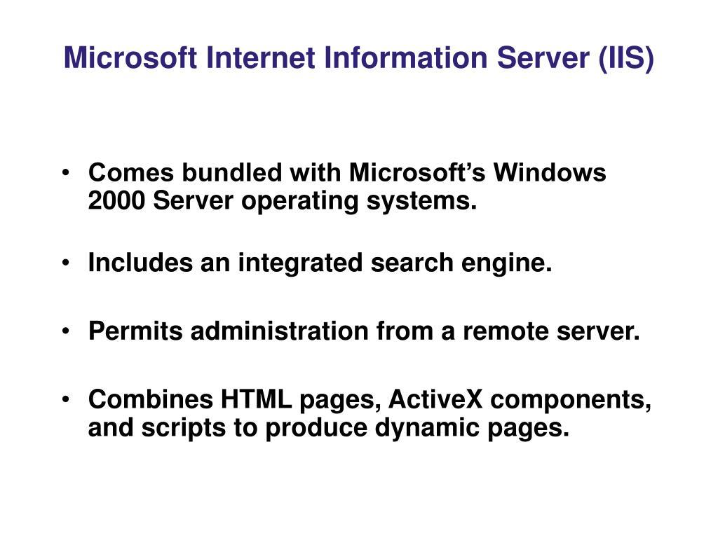 Microsoft Internet Information Server (IIS)
