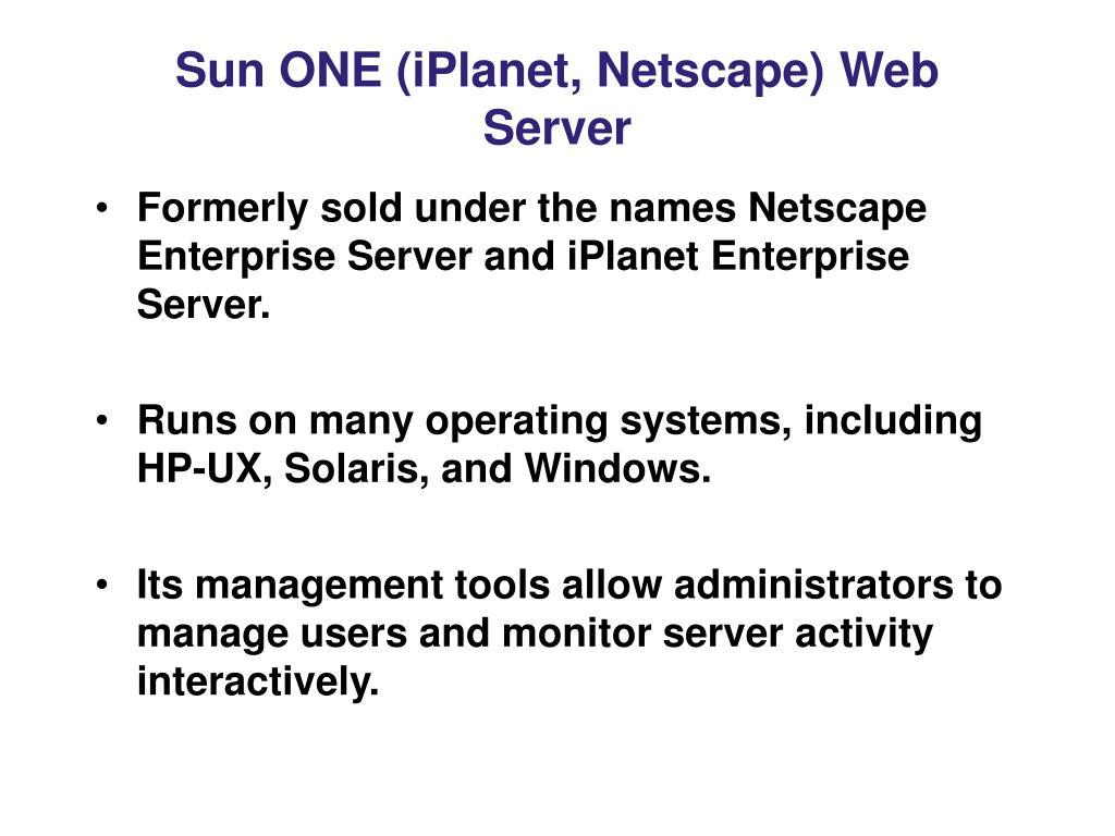 Sun ONE (iPlanet, Netscape) Web Server