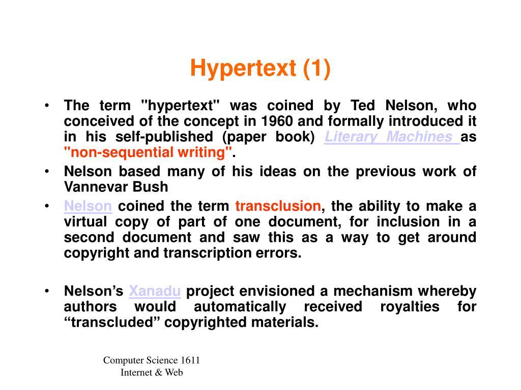 Hypertext (1)