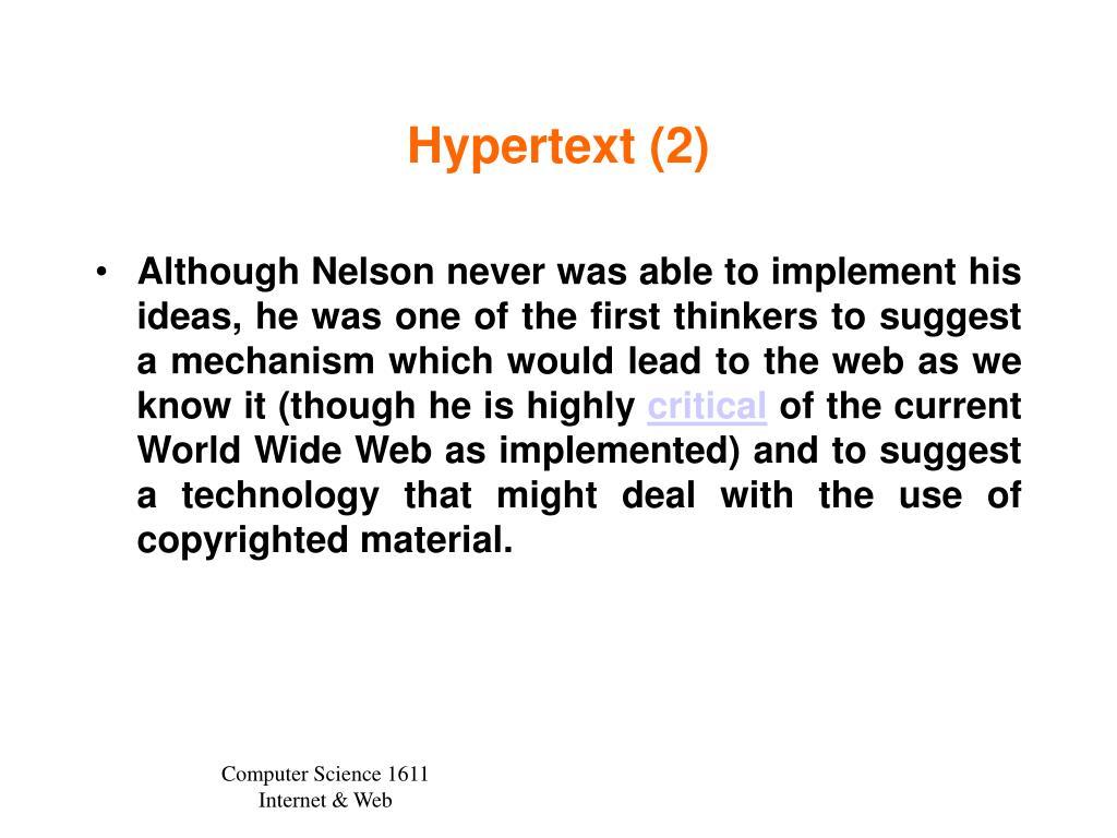 Hypertext (2)