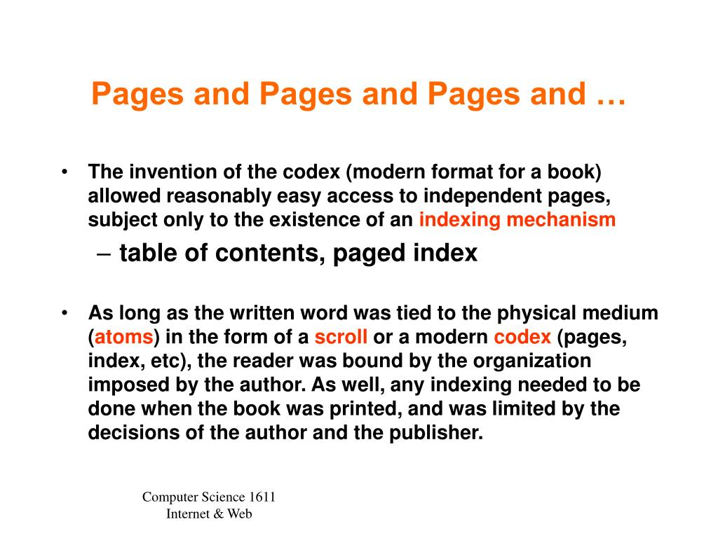 Pages and Pages and Pages and …
