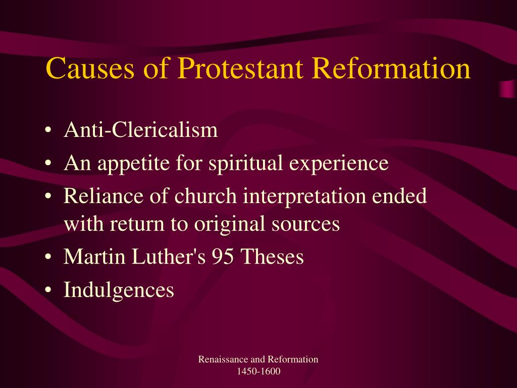 Causes of Protestant Reformation