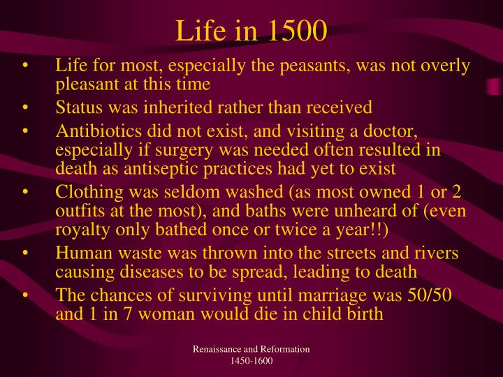 Life in 1500