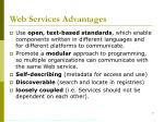 web services advantages